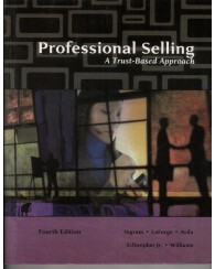 MKTG 3234 Professional Selling: A Trust Based Approach